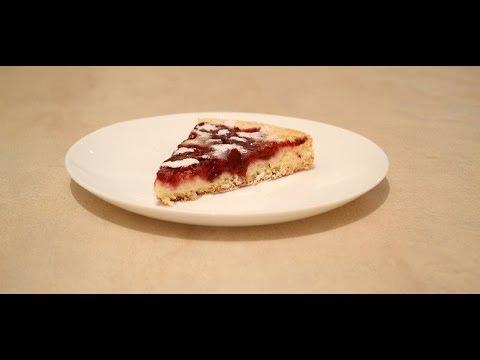 Как приготовить Бисквитный пирог с вишней.Рецепт бисквита с вишней