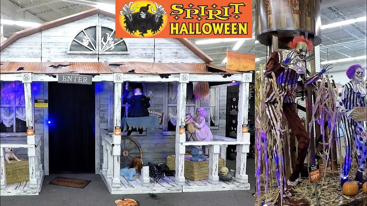 7c91b5a5a5e SPIRIT HALLOWEEN 2018 HAUNTED HOUSE AND SCARY AREAS - Halloween Shopping  Decorations 4K Halloween