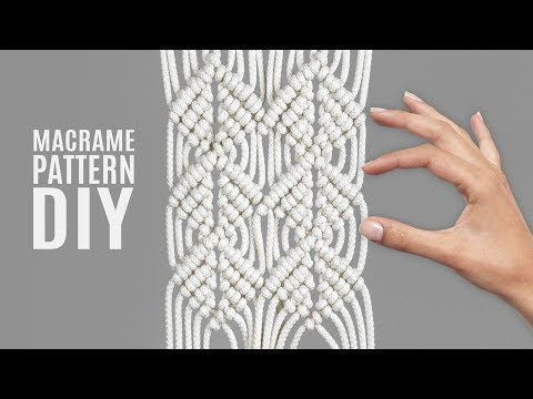DIY Macramé Double Half Hitch Wood Grain Mesh Pattern