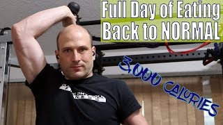 Again, 3,000 Calories Full Day of Eating | Back to NORMAL | Workout | Vlog | Strength Bulk Ep. 150