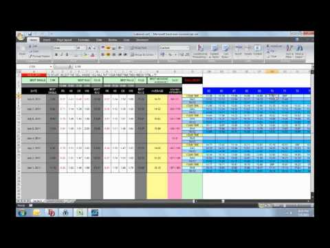 My Speedcubing Timer (Using Vba In Ms Excel) - YT