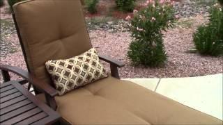 Bali Outdoor Chaise Lounge Teak Look Alike