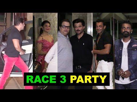 Salman Khan's RACE 3 PARTY |  Bobby Deol, Jacqueline, Remo, Freddy, Anil Kapoor, Daisy