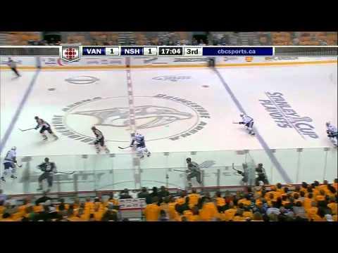 Vancouver Canucks @ Nashville Predators Game 3 Highlights 5/4/11