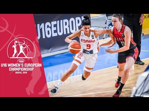 Spain V Belgium - Full Game - FIBA U16 Women's European Championship 2019