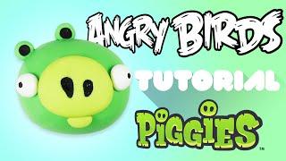 Angry Bird Pig Polymer Clay Tutorial | Cerdo de Angry Bird Porcelana Fría / Plastilina