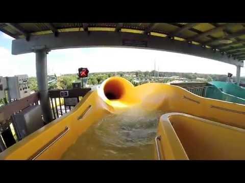 Whanau Way - Yellow Slide : HD POV - Aquatica Water Park (Orlando, Florida)
