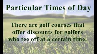 How to Find Cheap Golf Tee Times