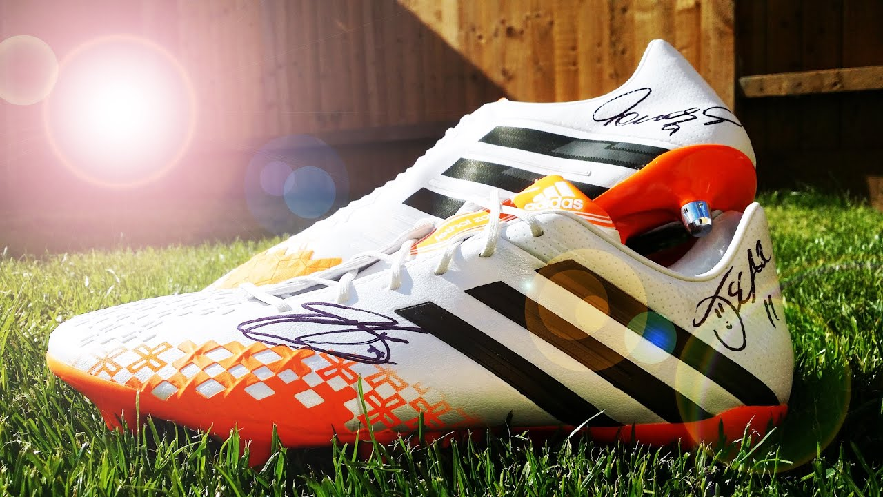 on sale 722d1 3d108 Adidas Predator LZ 2 White Solar Zest Earth Green Signed by Torres, Oscar,  Cahill   KimFootball