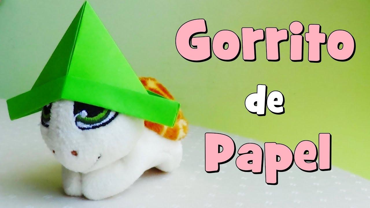 Gorro de Papel muy Sencillo - Papiroflexia - YouTube