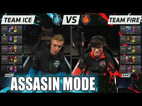 Team Ice vs Team Fire | Assasin Mode Match LoL All-Stars 2015 LA | Ice vs Fire Assasins All Star
