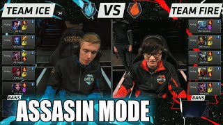 Team Ice vs Team Fire | Assasin Mode Match LoL All-Stars 2015 LA | Ice vs Fire Assasins All Star