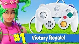 GAMECUBE CONTROLLER CHALLENGE! (Fortnite: Battle Royale) [Nintendo Switch]