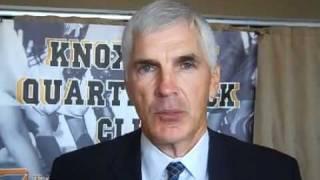 Former vanderbilt football coach bobby johnson, appearing at the knoxville quarterback club meeting calhoun's on river monday, sept. 12, 2011, talk...