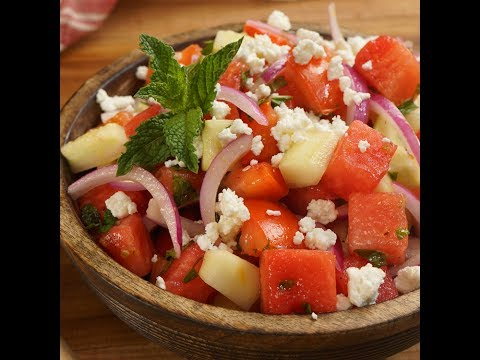 Greek-Style Watermelon Salad with Feta & Mint
