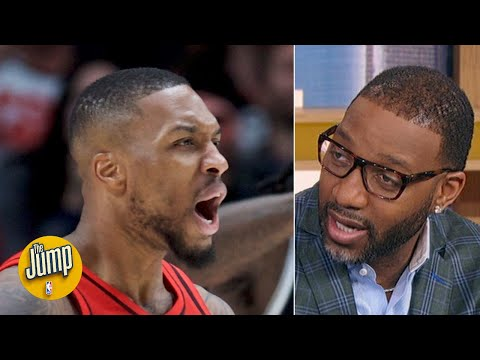 damian-lillard-and-a-healthy-blazers-team-would-be-scary-in-the-playoffs---tracy-mcgrady-|-the-jump