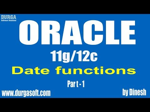 Oracle || Date Functions Part-1 By Dinesh