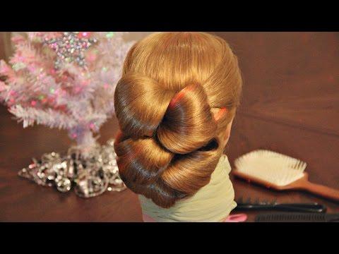 Twisted Tails Hairstyle. Прическа из хвостиков для длинных волос