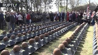В Латвии перезахоронили останки 275 солдат Красной армии