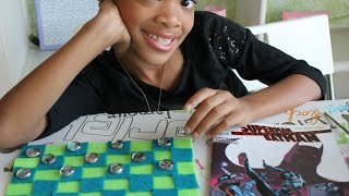 Gift Idea 3- DIY Super Hero (or My Little Pony) Checkers Game