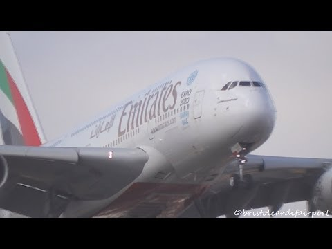 Emirates Airbus A380 A6-EDL 'Dubai Expo 2020' Landing at London Heathrow Airport (LHR/EGLL) with ATC