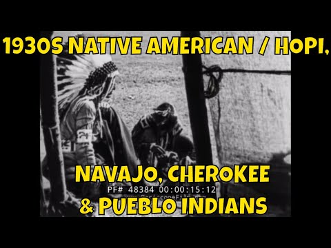 1930s NATIVE AMERICAN / HOPI, NAVAJO, CHEROKEE & PUEBLO INDIANS DOCUMENTARY  INDIAN POW WOW  48384