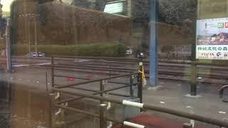 肥薩線快速    人吉駅発車    車窓