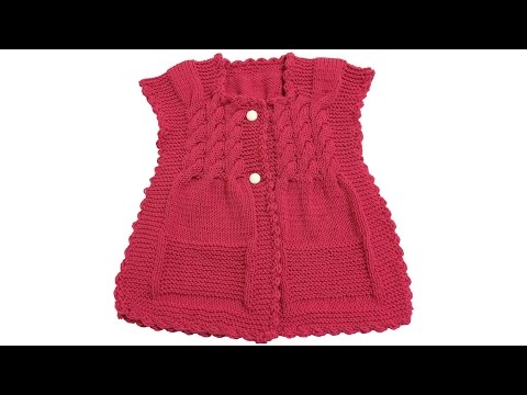 How to make a corked baby vest? (From top to bottom) - knitting patterns - knitting pattern