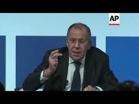 Lavrov criticises US and UK for attitudes towards Russia