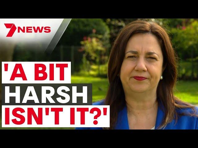 'A bit harsh' Queensland Premier Annastacia Palaszczuk responds to border reopening criticism 7NEWS