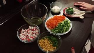 Новогодний Стол / Новая интерпретация салата с Крабовыми палочками🦀