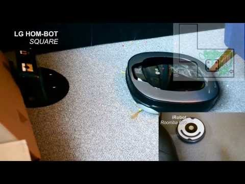 LG Hombot vs iRobot Roomba, Automatic vacuum cleaner comparsion
