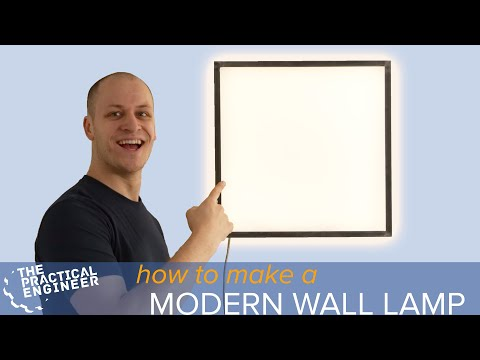 How to make a modern wall lamp with a metal frame and LED's