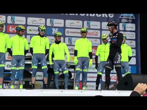 Peter Sagan presenting team Tinkoff at the Record Bank E3 Harelbeke