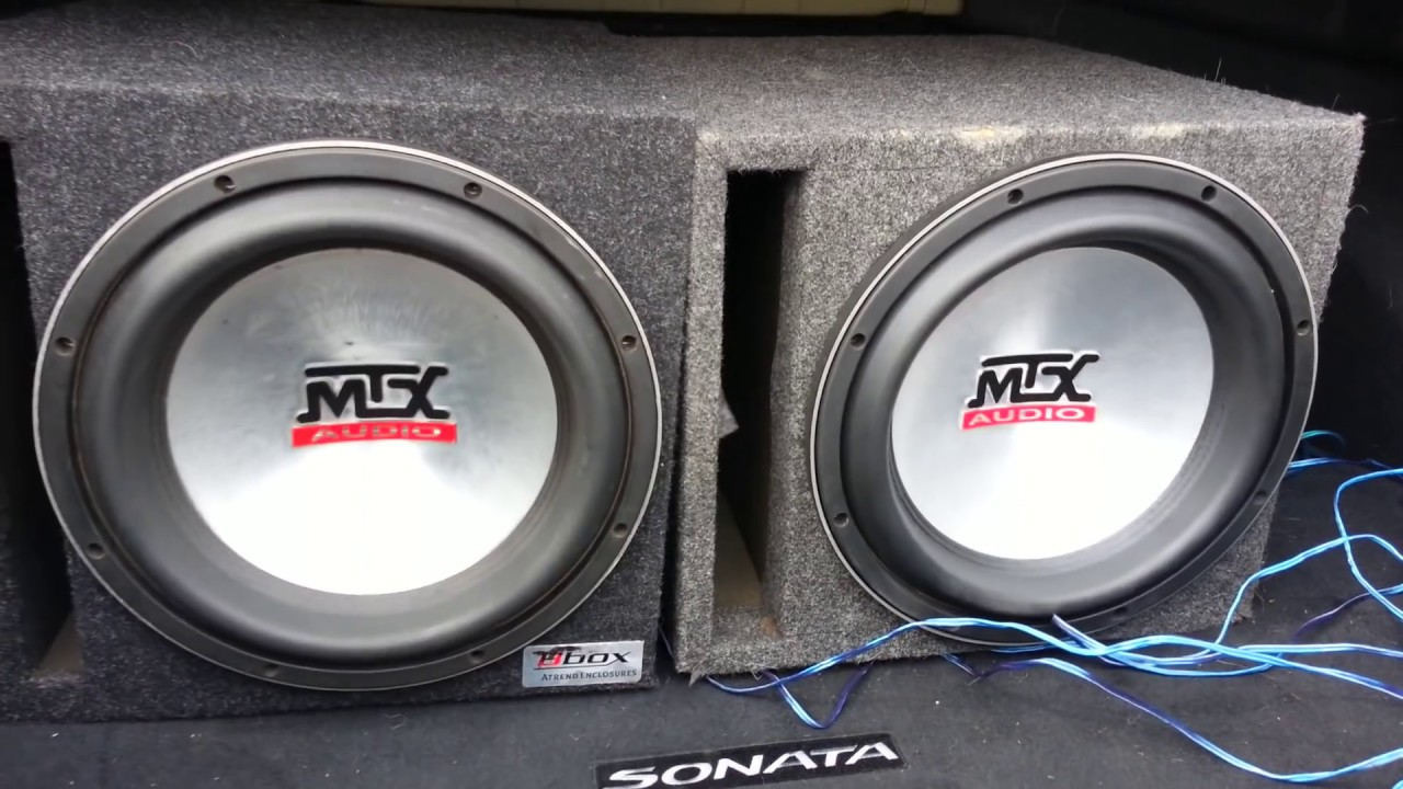 2 MTX 9500 12's Getting Thrashed Subwoofer Abuse! Insane