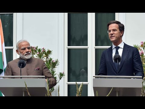 PM Modi & PM of Netherlands Mr Mark Rutte at Joint Press Statements in Netherlands