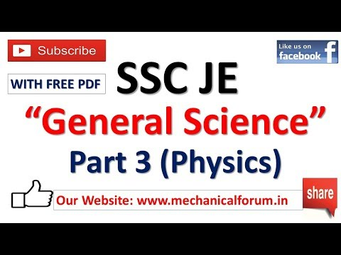 SSC JE 2018 || General Science || Important for All Branches