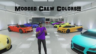 GTA 5 Online Modded Crew Colors