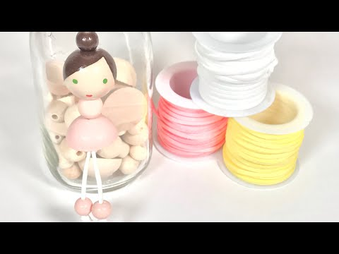 How To Make A Wood Bead Doll Ballerina Necklace