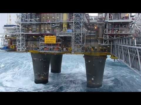 north sea storm Oseberg Alpha 23/01/2014