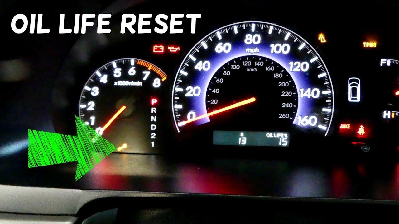 Honda Odyssey Oil Life Reset 2005 2006 2007 2008 2009 2010