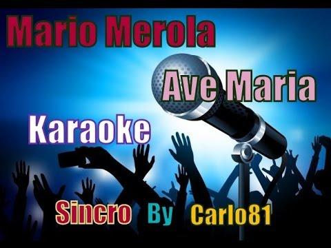 Mario Merola   Ave Maria karaoke