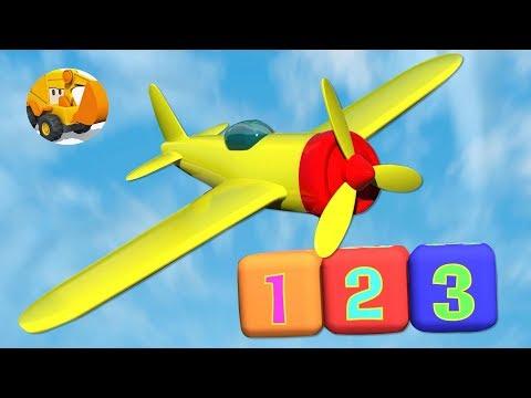Aviones para niños aprenden los números del 1 al 3 - Aeropuerto