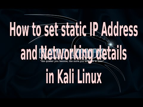 How to set static ip address and networking details in kali linux how to set static ip address and networking details in kali linux the geeky space reheart Images
