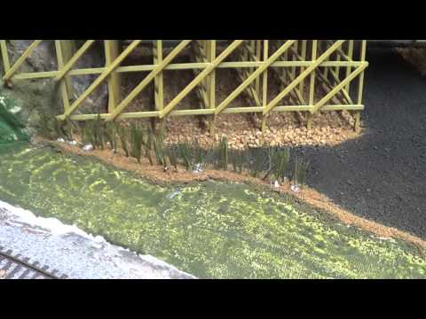 """Trestle Bridge Scenery"" Model Trains Part 40"