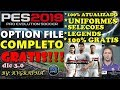 PES 2019 OPTION FILE 100% COMPLETO 100% GRATIS