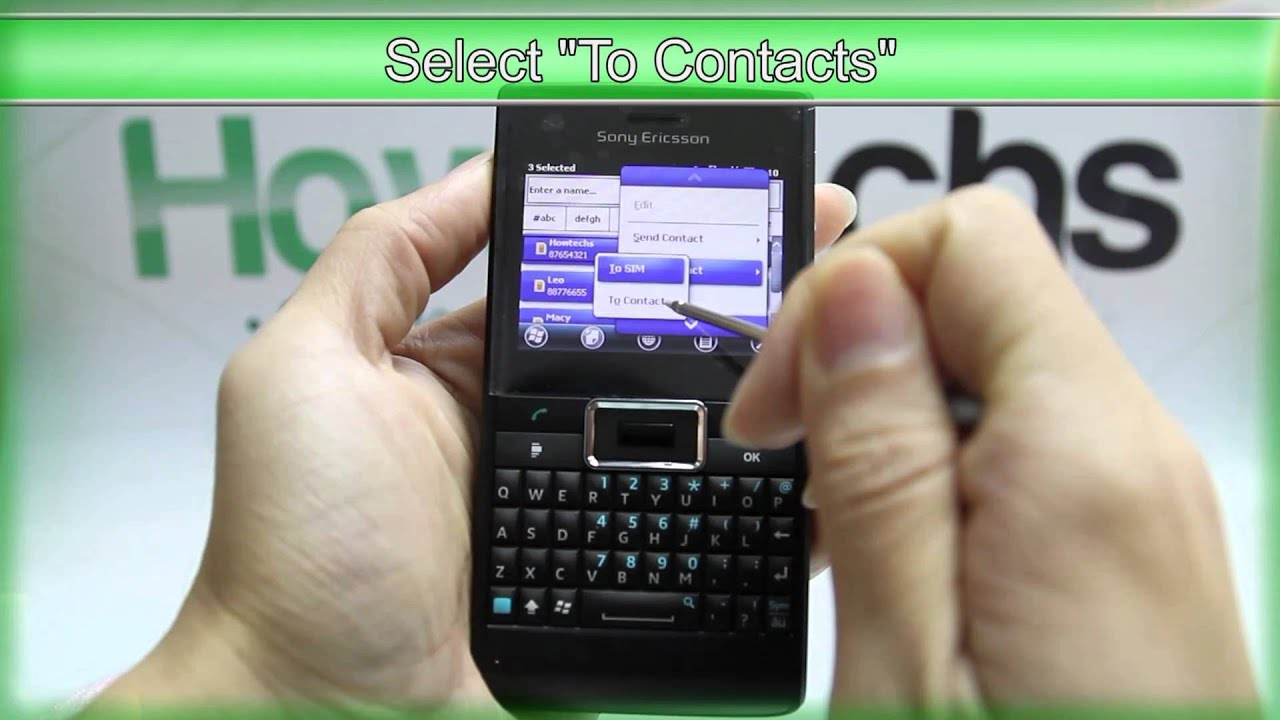 how to get contacts from sim card