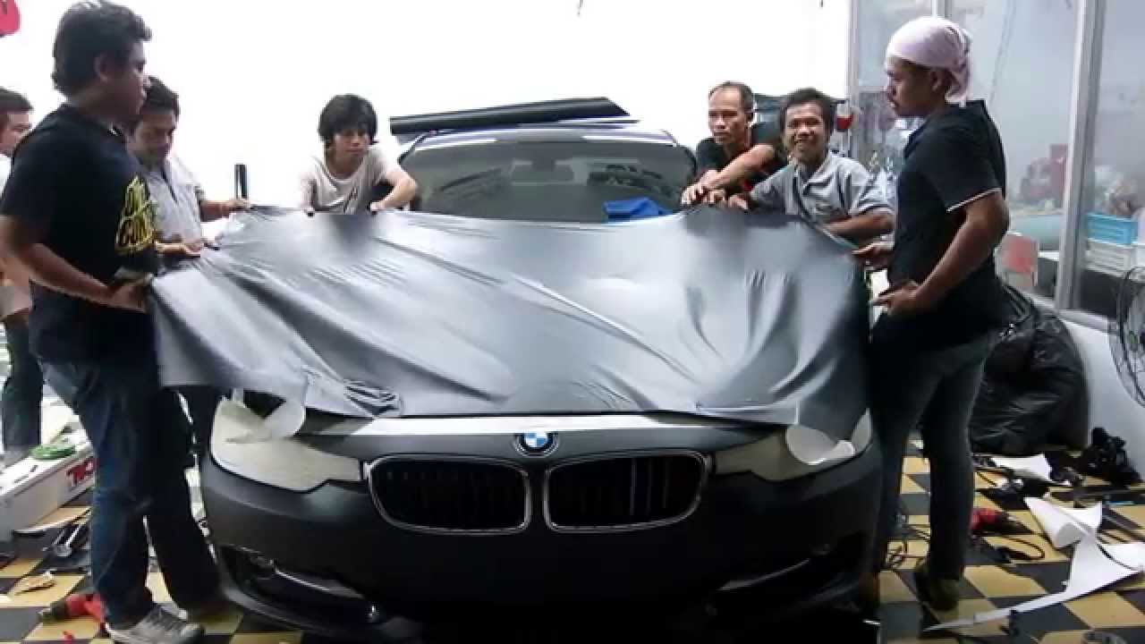 Matt Black Bmw 3 Series F30 Wrapping Process And Weekend