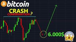 BITCOIN 6000$ LE CRASH EST CONFIRMÉ ? btc analyse technique crypto monnaie