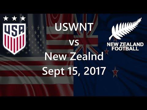 USWNT vs New Zealand Sept 15, 2017